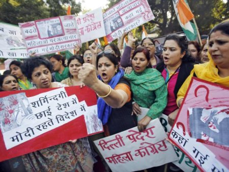 Indianas protestam contra os estupros no país. Foto: VEJA.com/Reuters