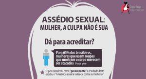 Diga não ao assédio sexual. Imagem colhida no site Itafatos.